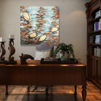 XiangYunChengFeng Abstract Scenery Canvas Oil Painting - COLORFUL 60 X 60CM