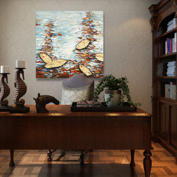XiangYunChengFeng Abstract Scenery Canvas Oil Painting - COLORMIX 60 X 60CM