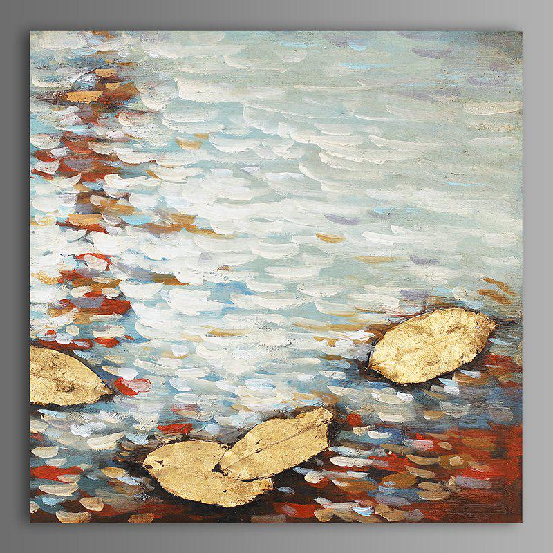 XiangYunChengFeng Abstract Scenery Canvas Oil Painting - WHITE GREY 60 X 60CM