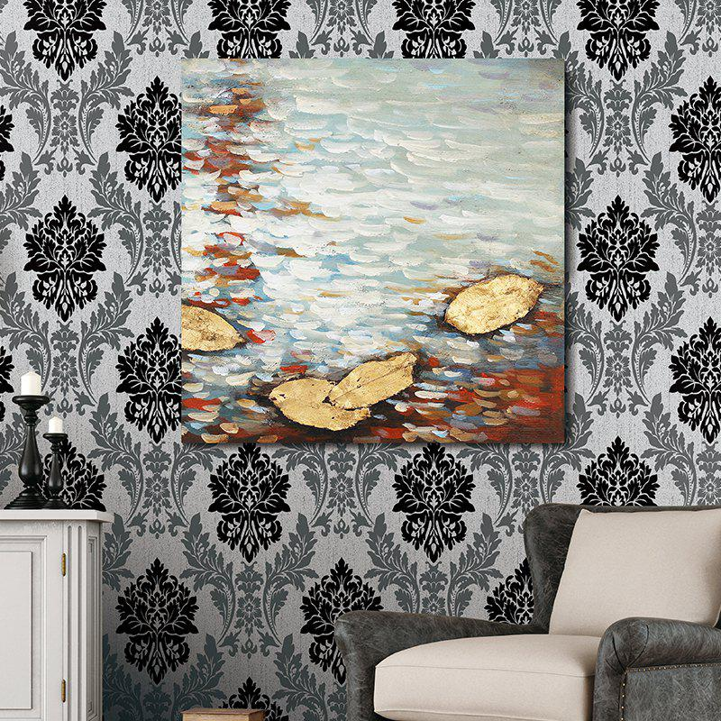 XiangYunChengFeng Abstract Scenery Canvas Oil Painting - WHITE GREY 50 X 50CM
