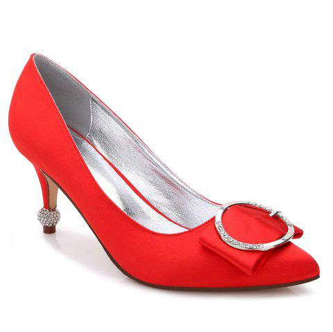 17767-41Women's Shoes Wedding Shoes - RED 41
