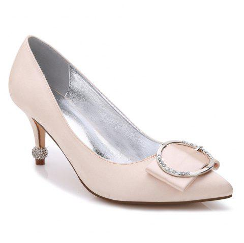 17767-41Women's Shoes Wedding Shoes - CHAMPAGNE 38
