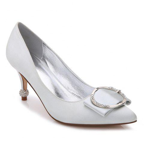 17767-41Women's Shoes Wedding Shoes - SILVER 40
