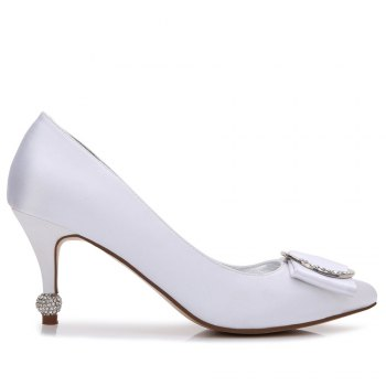 17767-41Women's Shoes Wedding Shoes - WHITE 41