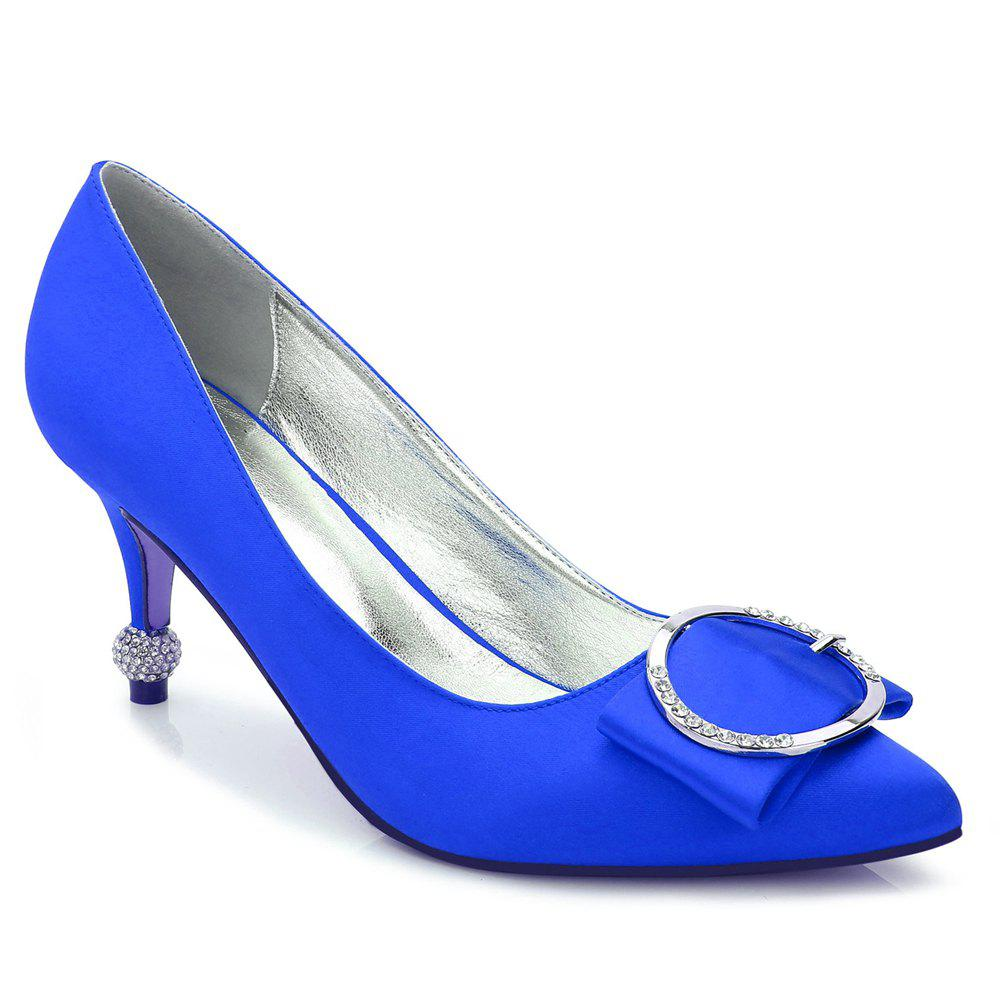 17767-41Women's Shoes Wedding Shoes - BLUE 38