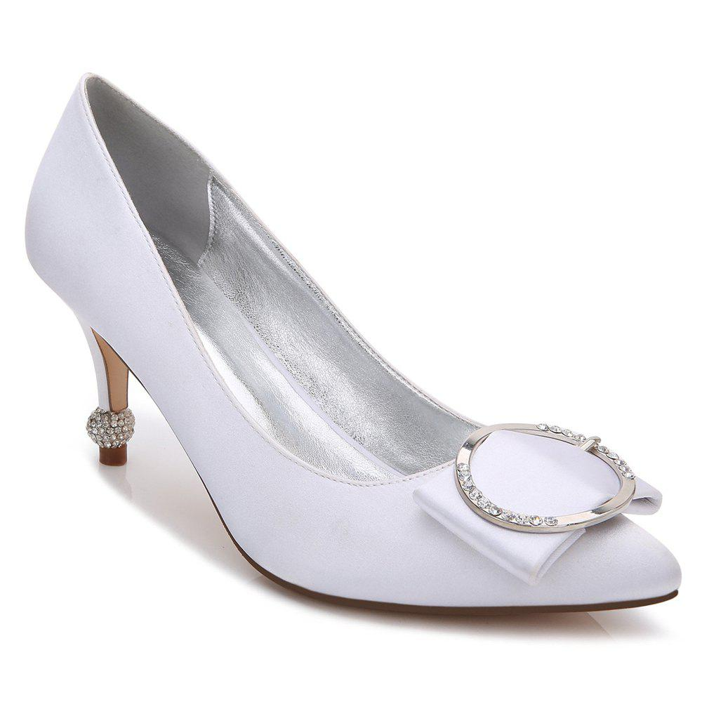 17767-41Women's Shoes Wedding Shoes - WHITE 38