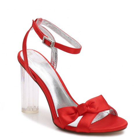 2615-1Women's Shoes Wedding Shoes - RED 40