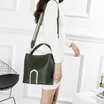 Women's Handbag Solid Color Roomy Bag - GREEN GREEN