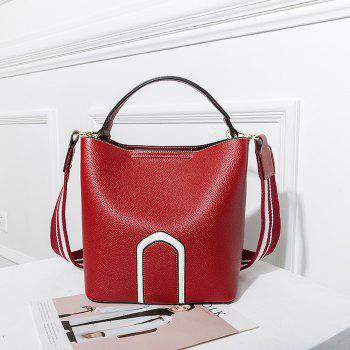 Women's Handbag Solid Color Roomy Bag - RED RED