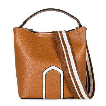 Women's Handbag Solid Color Roomy Bag - BROWN BROWN
