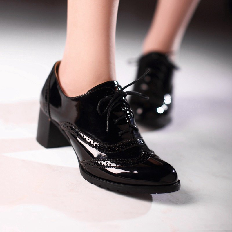 Black Patent Shoes At Zar A