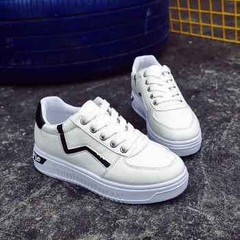 Student Flat Strappy Low Recreational All-match Sports Shoes - WHITE 35
