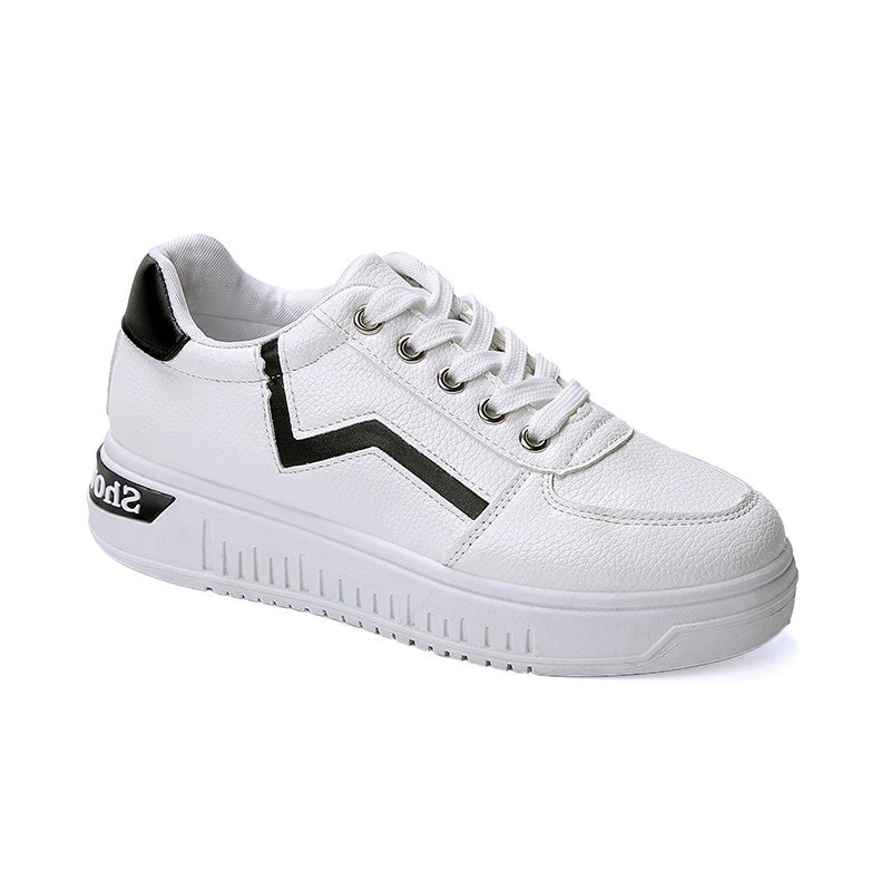 Student Flat Strappy Low Recreational All-match Sports Shoes - WHITE 36