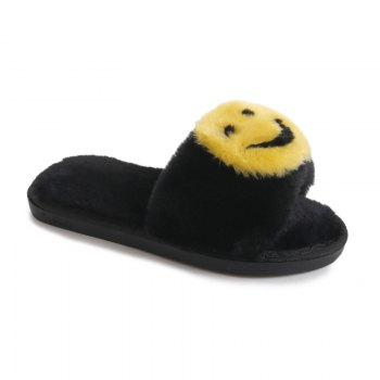 Female Home Cartoon Slippers - 黑色 黑色