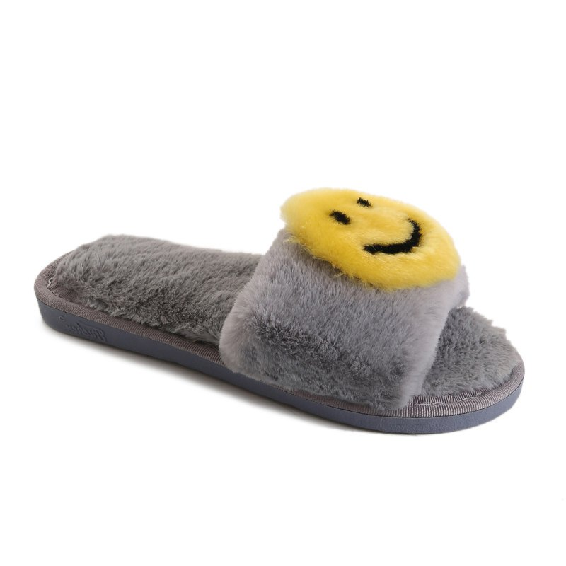 Female Home Cartoon Slippers - GRAY SIZE(40-41)