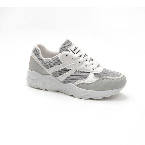 Leisure Sports Shoes All-Match Comfortable Breathable Strap - GRAY 38