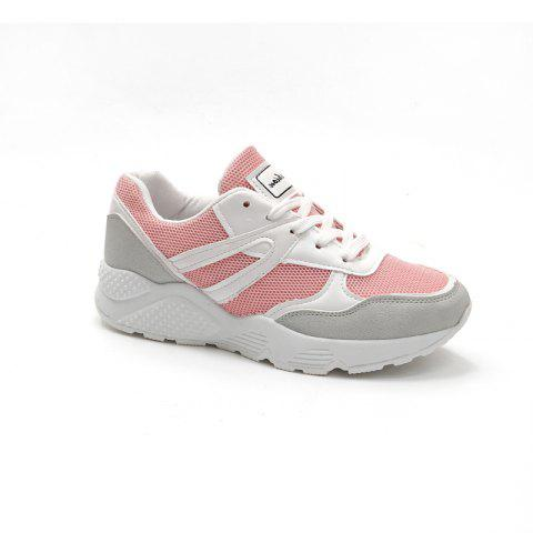 Leisure Sports Shoes All-Match Comfortable Breathable Strap - PINK 37