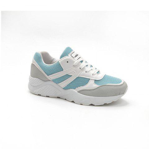 Leisure Sports Shoes All-Match Comfortable Breathable Strap - BLUE 39