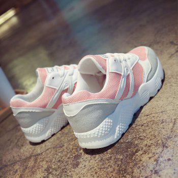 Leisure Sports Shoes All-Match Comfortable Breathable Strap - PINK 35