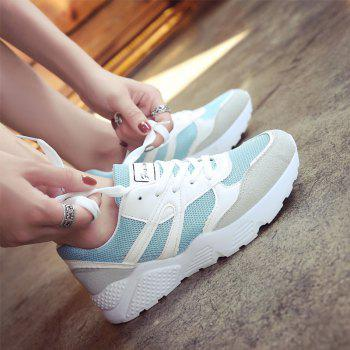 Leisure Sports Shoes All-Match Comfortable Breathable Strap - BLUE 36
