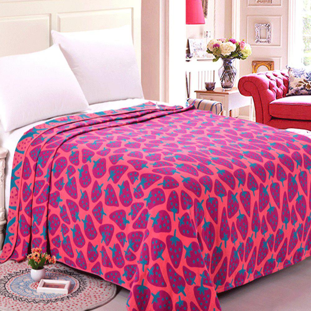 Cotton Three Layer Gauze Double Towel Quilt - RED DOUBLE