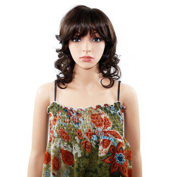 Women Long Wavy Curly Wave Full Hair Wig for Cosplay Party Costume - BROWN BROWN
