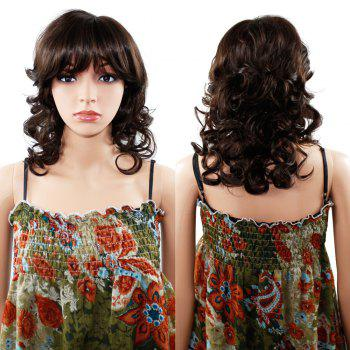 Women Long Wavy Curly Wave Full Hair Wig for Cosplay Party Costume - BROWN 14INCH