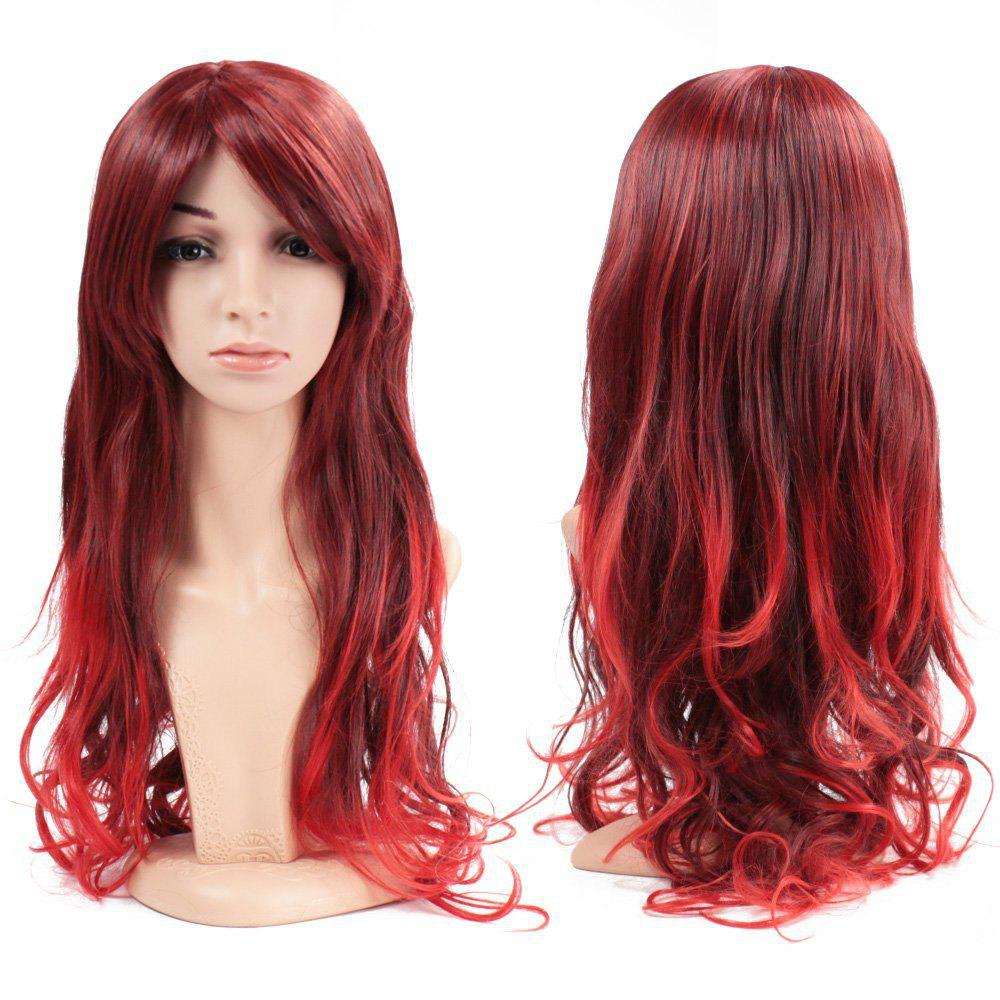 Women Full Hair Wig Long Wavy Curly Wave Heat Resistant for Cosplay Party Costume Halloween Daily 26 inch - RED 26INCH
