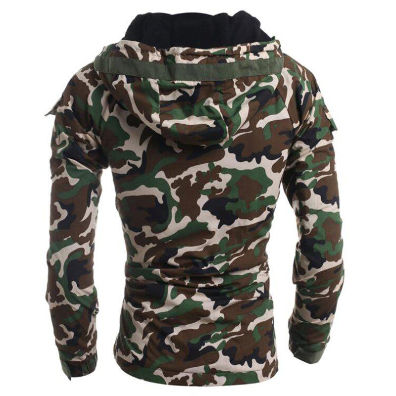 Men's Fashion Casual Camouflage Hooded Coat - ARMYGREEN L