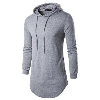 Men's Sports Casual Hoodie Solid  Long Sleeve - GRAY GRAY