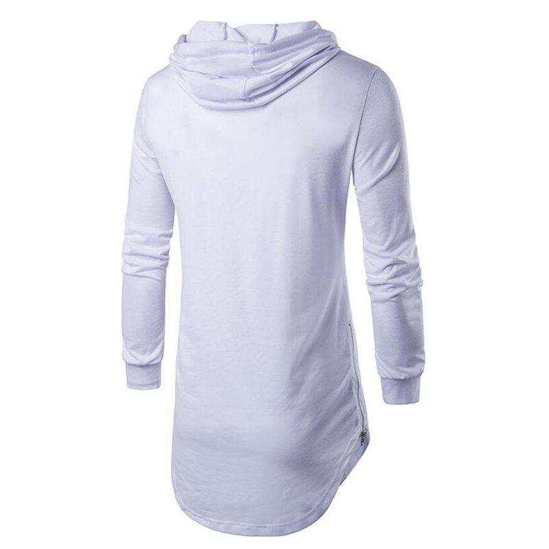 Men's Sports Casual Hoodie Solid  Long Sleeve - WHITE XL
