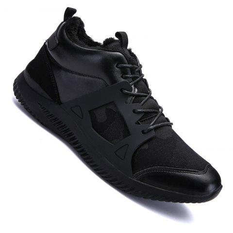 Men Casual New Trend for Fashion Outdoor Slip on Mesh Suede Rubber Flat Shoes - FULL BLACK 43