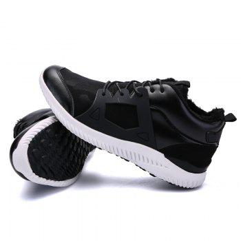 Men Casual New Trend for Fashion Outdoor Slip on Mesh Suede Rubber Flat Shoes - BLACK WHITE 39