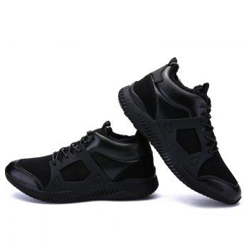 Men Casual New Trend for Fashion Outdoor Slip on Mesh Suede Rubber Flat Shoes - FULL BLACK 45