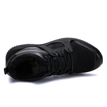 Men Casual New Trend for Fashion Outdoor Slip on Mesh Suede Rubber Flat Shoes - FULL BLACK 44