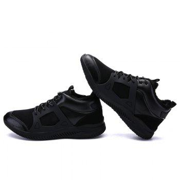 Men Casual New Trend for Fashion Outdoor Slip on Mesh Suede Rubber Flat Shoes - FULL BLACK 39