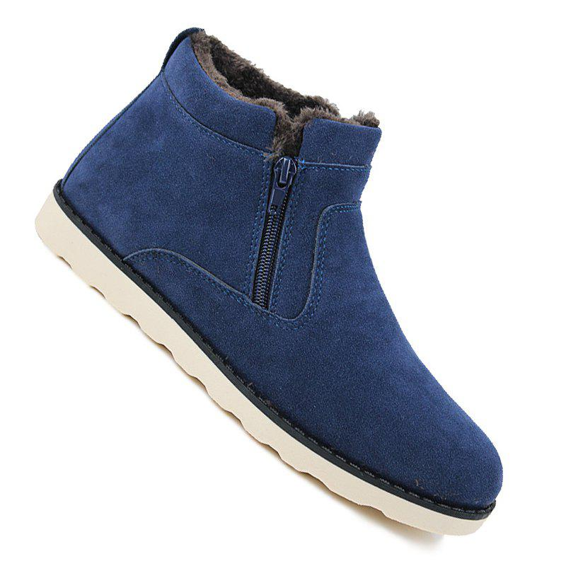 Lover Casual New Trend for Fashion Outdoor Slip on Suede Rubber Flat Boots odetina fashion genuine leather fringe short ankle suede snow boots for women wool fur lined winter warm shoes tassels slip on