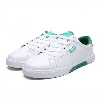 Men Casual New Trend for Fashion Outdoor Lace Up Rubber Suede Flat Leather Shoes - GREEN 40