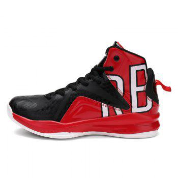 Men Athletic Basketball Shoes Jogging Breathable Walking Sneakers - RED 41