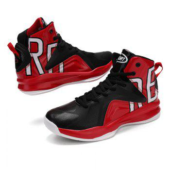 Men Athletic Basketball Shoes Jogging Breathable Walking Sneakers - RED 42