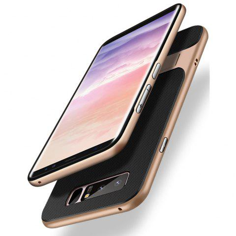 Antichoc Stand Back Cover solide couleur dur PC + TPU Case pour Samsung Galaxy Note 8 - Or