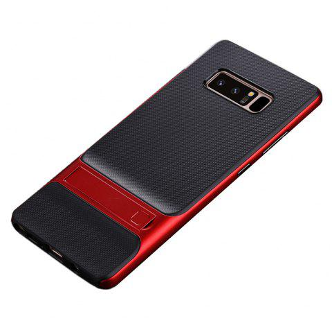 Antichoc Stand Back Cover solide couleur dur PC + TPU Case pour Samsung Galaxy Note 8 - Rouge