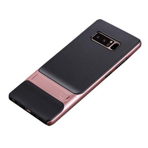 Antichoc Stand Back Cover solide couleur dur PC + TPU Case pour Samsung Galaxy Note 8 - Or de Rose