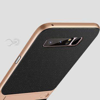 Shockproof Stand Back Cover Solid Color Hard PC + TPU Case for Samsung Galaxy Note 8 - GOLDEN