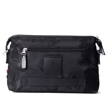 HAUT TON Waterproof Nylon Canvas Messenger Crossbody Bag - CAMOUFLAGE/BLACK CAMOUFLAGE/BLACK