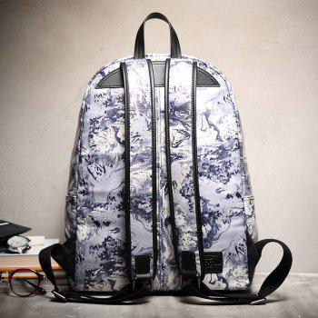 HAUT TON Design Printing Canvas Water Resistant Backpack - INK COLOR INK COLOR