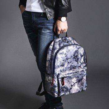HAUT TON Design Printing Canvas Water Resistant Backpack - INK COLOR 30.3 X 14.2 X 40CM