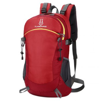 FLAMEHORSE Ultralight Travel Backpack Waterproof Outdoor Mountaineer Bag 40L - RED RED