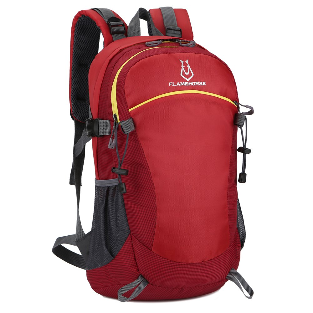 FLAMEHORSE Ultralight Travel Backpack Waterproof Outdoor Mountaineer Bag 40L - RED