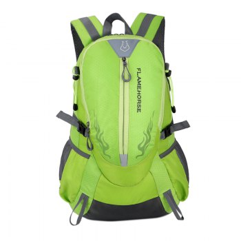FLAMEHORSE Waterproof Backpack  Lovers Outdoor Mountaineer Bag 40L - GREEN GREEN